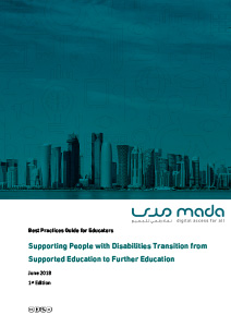 Supporting People with Disabilities Transition from Supported Education to Further Education